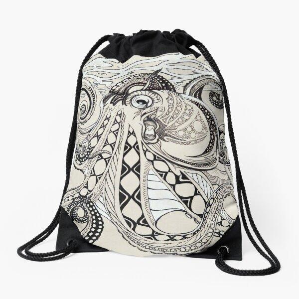 Hank the Octopus Drawstring Bag