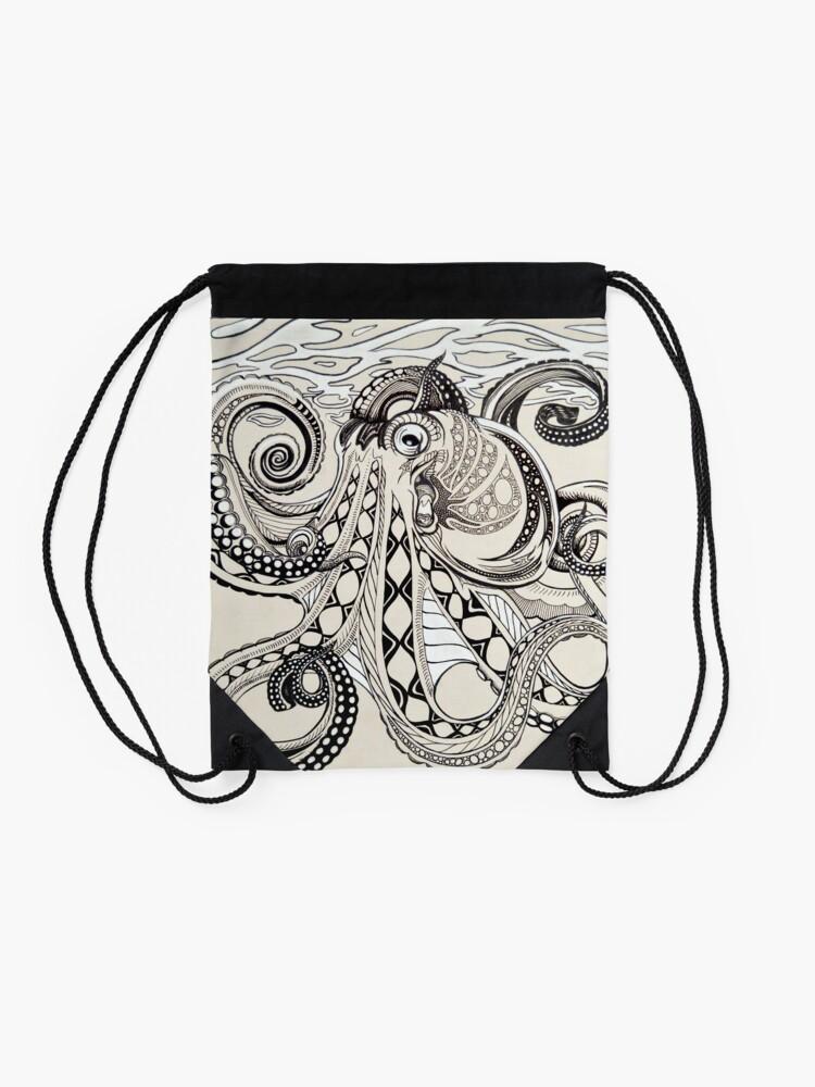 Alternate view of Hank the Octopus Drawstring Bag