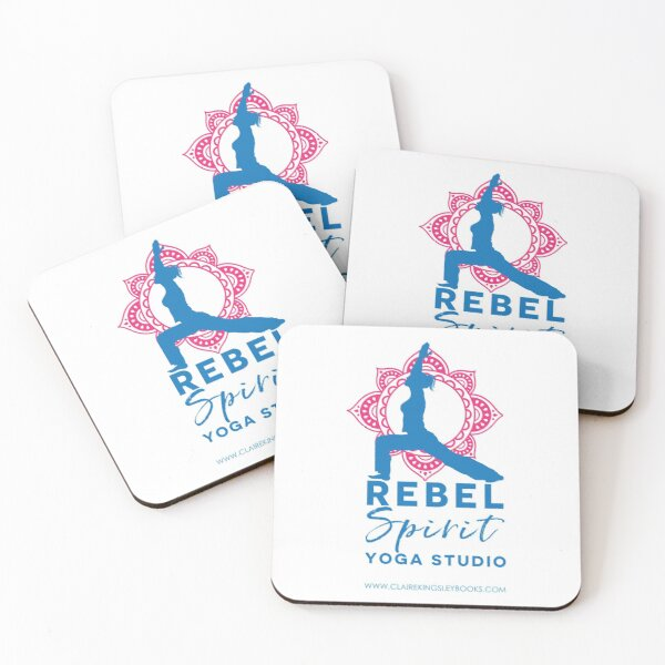 Rebel Spirit Yoga Studio Coasters (Set of 4)