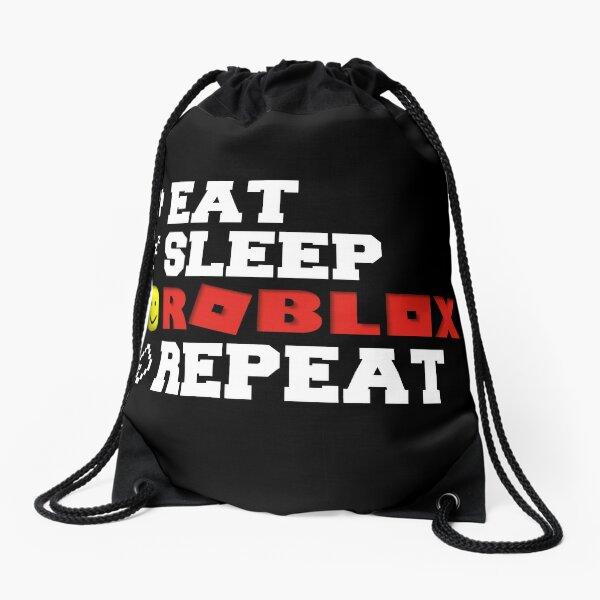 Eat Sleep Roblox Repeat Drawstring Bag