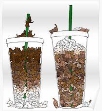 Starbucks Kittens! Poster