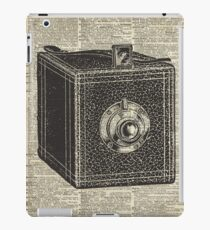 Antique Cube Camera Over Old Encyclopedia Page iPad Case/Skin