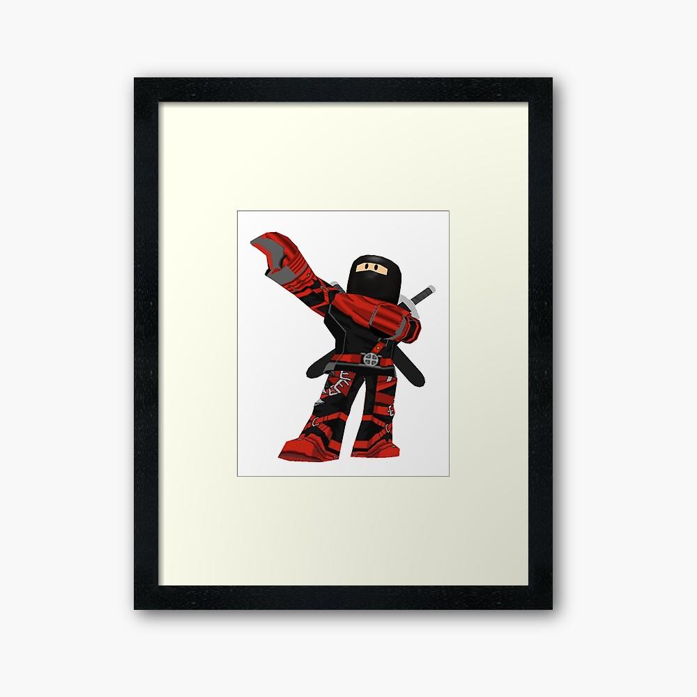 Roblox Ninja Assassin Framed Art Print By Best5trading Redbubble