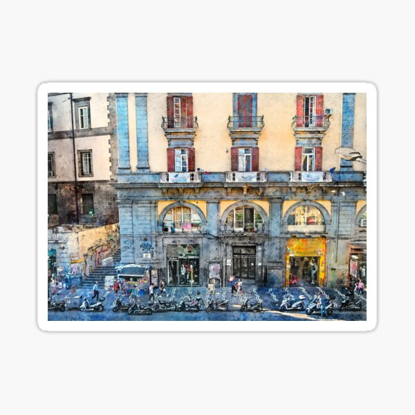 Neapol Napoli Italy city art #Napoli Sticker