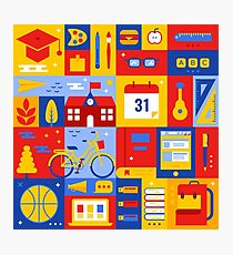 Colorful Education Concept Photographic Print