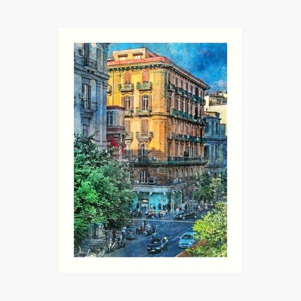 Neapol Napoli Italy city art #Napoli Art Print