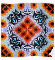 Electric Orange Poster