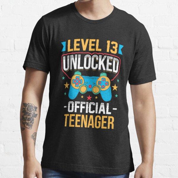 Nivel 13 adolescente oficial desbloqueado 13 cumpleaños Camiseta esencial