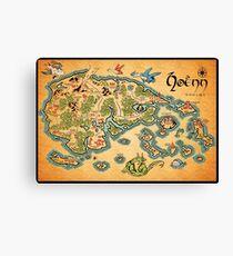 Hoenn Map Canvas Print