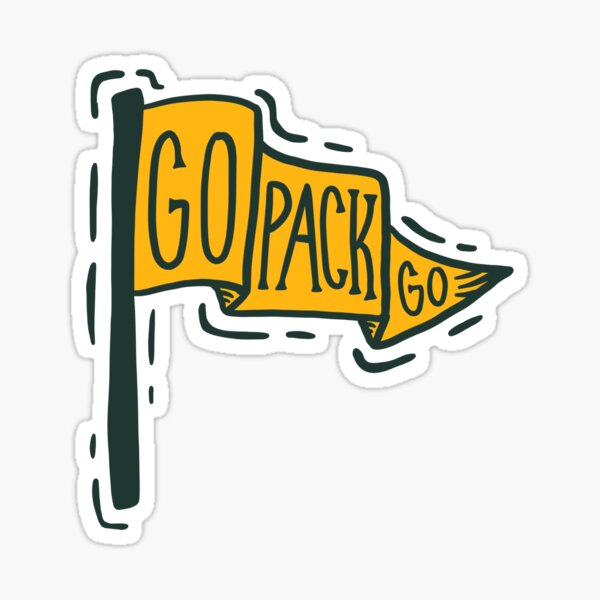 Go Pack Go Flag Sticker