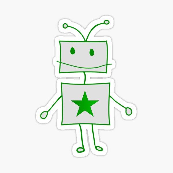 Roboto amas Esperanton Sticker