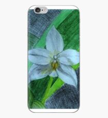 White Terrestrial Orchids iPhone Case