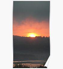 golden columbia river sunrise 2 Poster