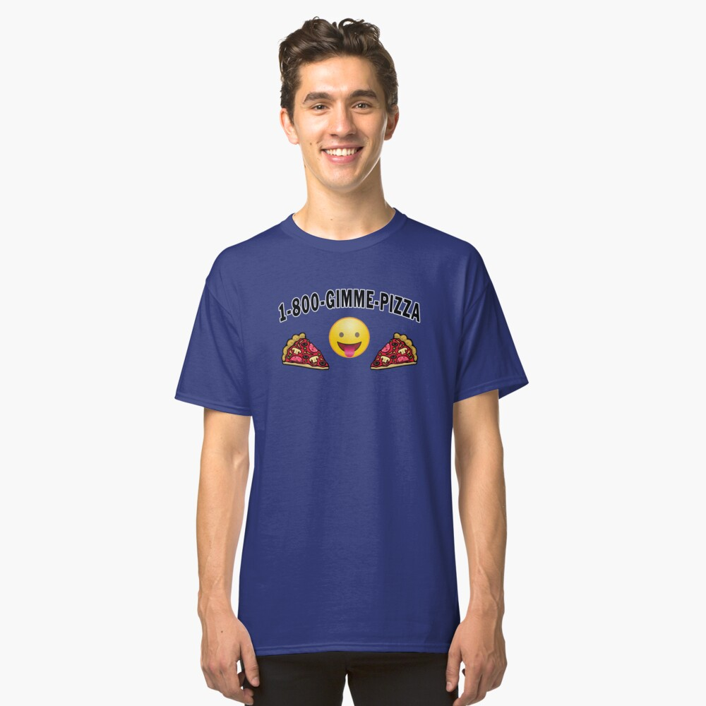 Pepperoni Pizza Junk Food Lovers Foodie gift. Classic T-Shirt