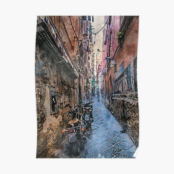 Neapol Napoli Italy city art #Napoli Poster