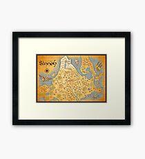 Sinnoh Map Framed Print