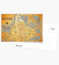 Sinnoh Karte Postkarten