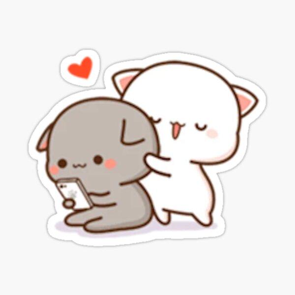 Mochi Mochi Peach Cat Sticker