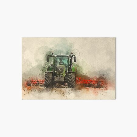 Grafting Fendt Tractor Art Board Print