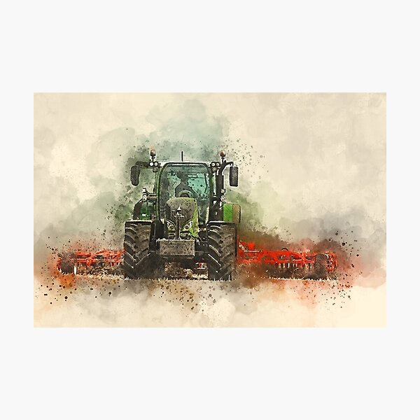 Grafting Fendt Tractor Photographic Print