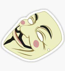 V mask Sticker