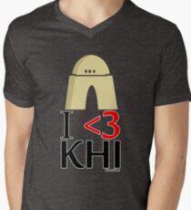 I <3 KHI Men's V-Neck T-Shirt