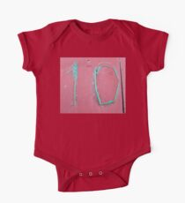 10, NUMBER 10, Ten, Tenth, turquoise, pink, One Piece - Short Sleeve