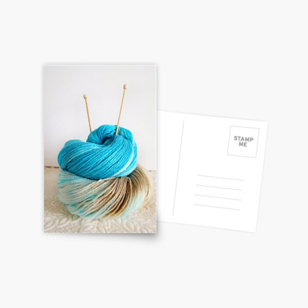 Wool and Knitting Needles Postcard