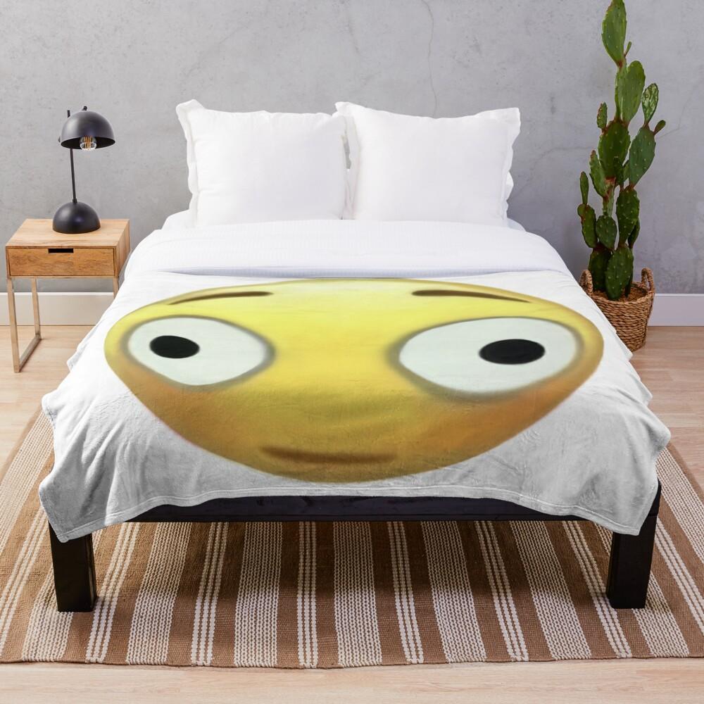 """""""Cursed Bonk Emoji"""" Throw Blanket By Chiefskye"""