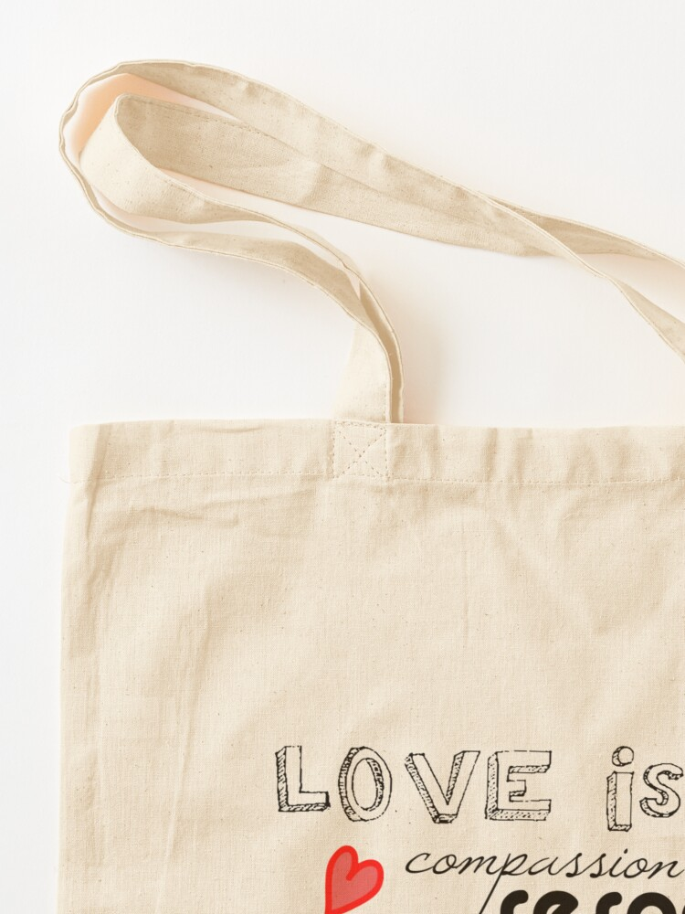 Alternate view of Love is...  Tote Bag