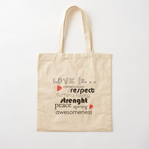 Love is...  Cotton Tote Bag