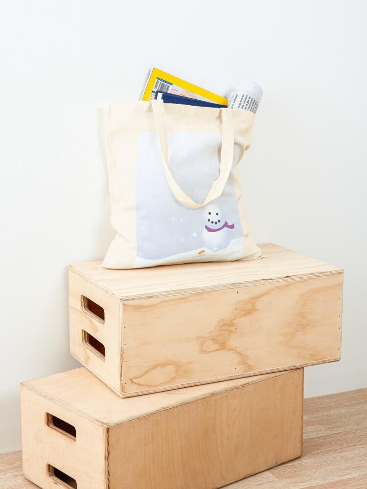 Alternate view of Snowman Tote Bag