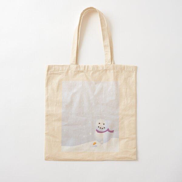 Snowman Cotton Tote Bag