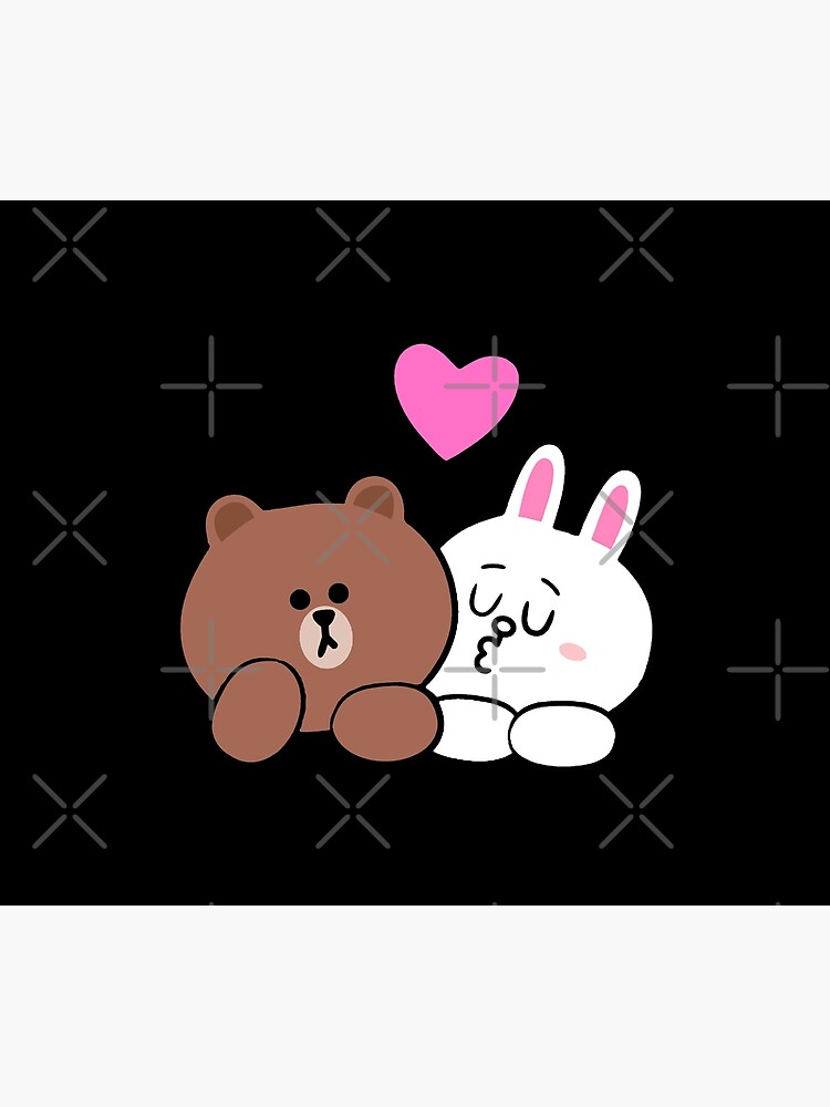 Brown bear and Cony in love by tommytbird