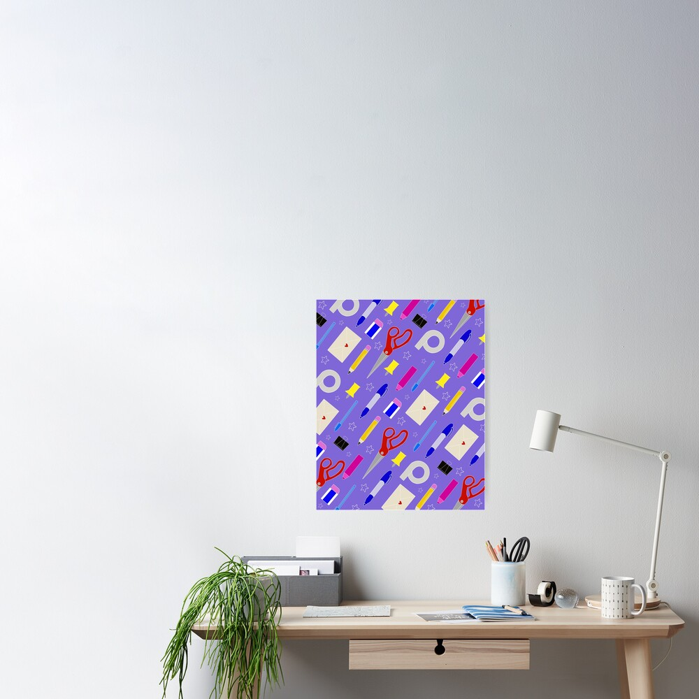Office Essentials Poster By Taracsanders Redbubble