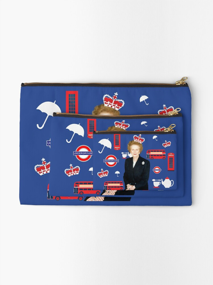 Alternate view of Margaret Thatcher - Prime Minister Zipper Pouch