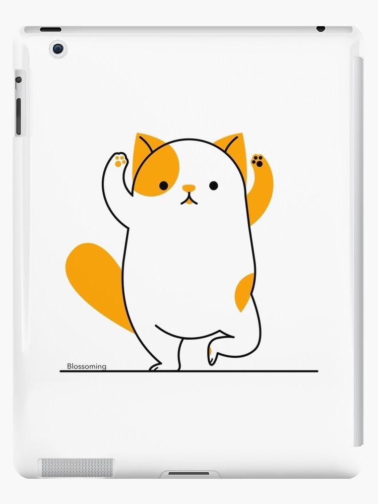 Cute Funny Cat Yoga Pose Meditation Namaste Savasana Cool Pets Love Animals Ipad Case Skin By Blossomingco Redbubble