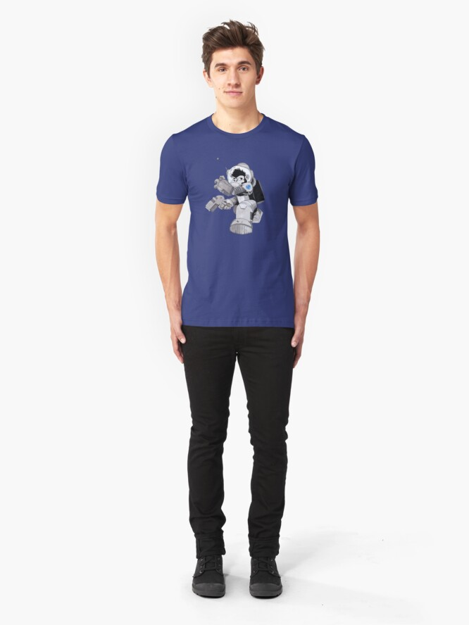 Alternate view of Ookie the Space Ape Slim Fit T-Shirt