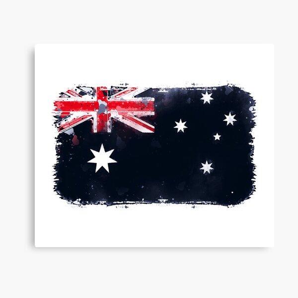 Australia Grunge Flag Canvas Print