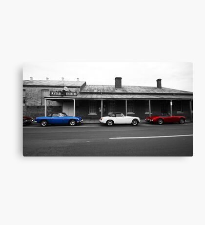 Drive Back In Time Canvas Print