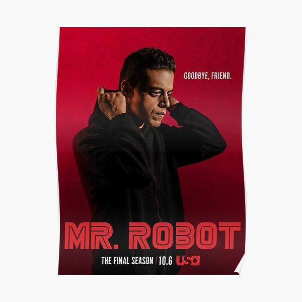 Mr Robot Goodbye Friend Poster