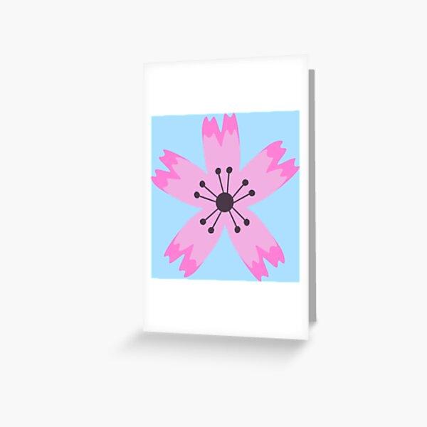 Pink sakura flower Greeting Card