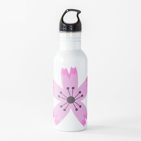 Pink sakura flower Water Bottle