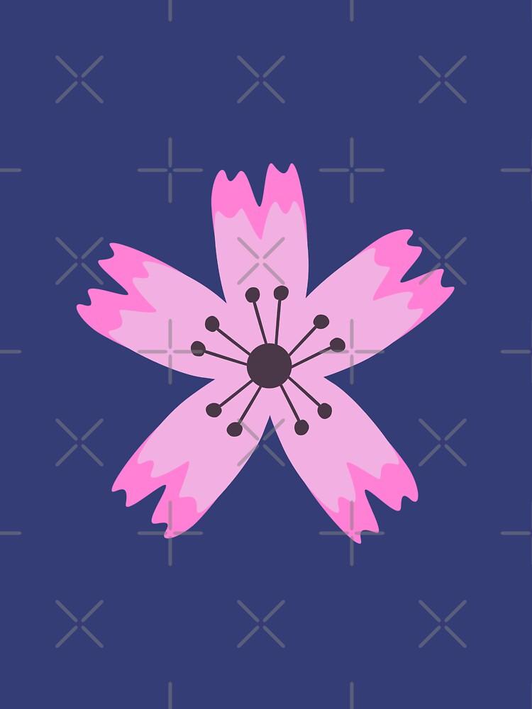 Pink sakura flower by tannie