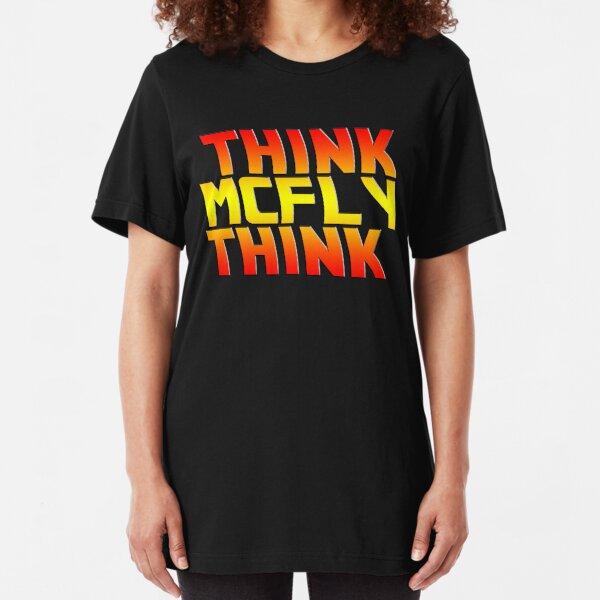 Think, McFly, Think  Slim Fit T-Shirt