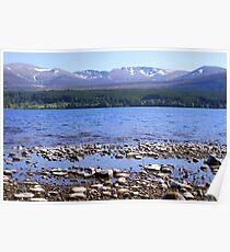 Loch Morlich & Cairngorm Mountains Poster