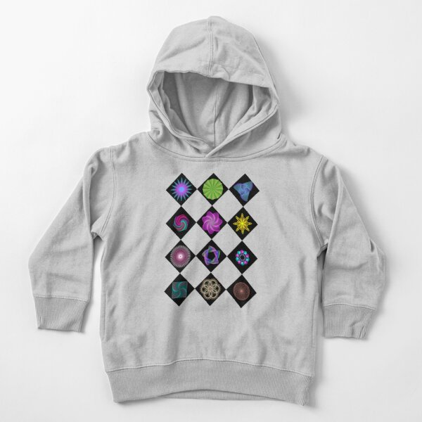 Beautiful colorful geometric rhombus shapes Toddler Pullover Hoodie