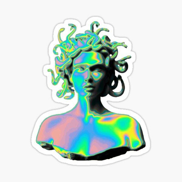 Vaporwave Medusa Sticker