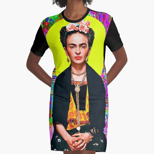 Kahlo Graphic T-Shirt Dress