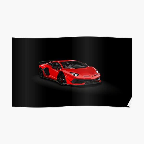 Lamborghini Aventador Superveloce Roadster 2017 Print Poster or Canvas